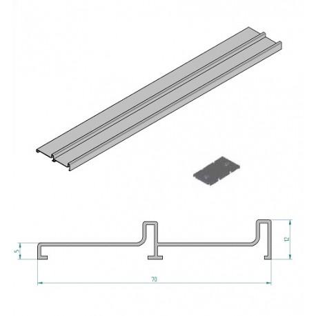 Cerco lateral de aluminio para gu a de 2 carriles - Guia de aluminio ...