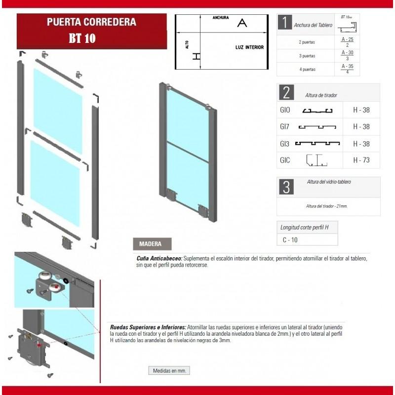 Kit puertas correderas armario empotrado idea de la - Kits puertas correderas armarios ...