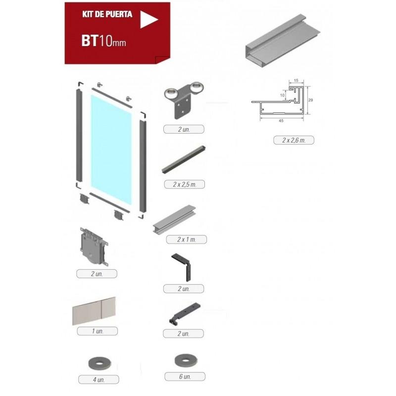 Kit de puerta corredera bt10 akarpinteros - Kit puertas plegables ...