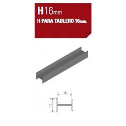 PERFIL H DE 16mm
