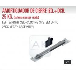 KIT DE 2 AMORTIGUADORES DE CIERRE HASTA 25kg